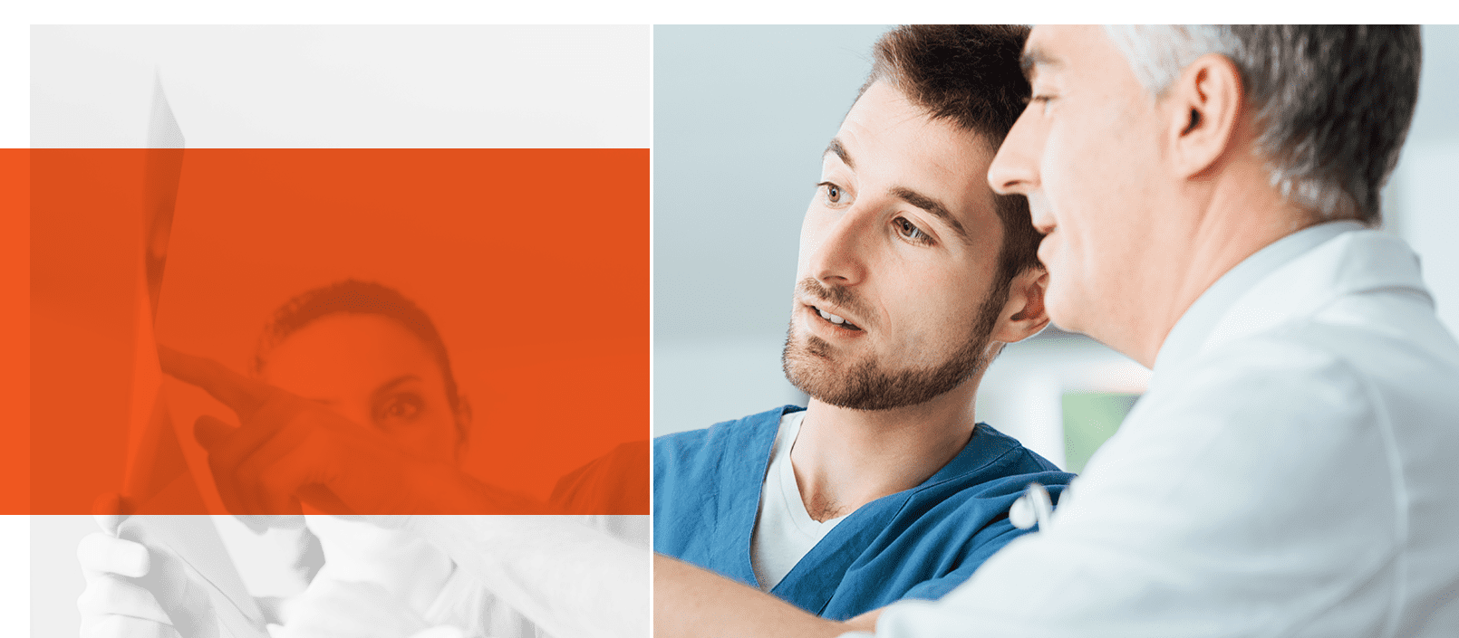 Artsen en verpleegkundigen kijken naar röntgenfoto